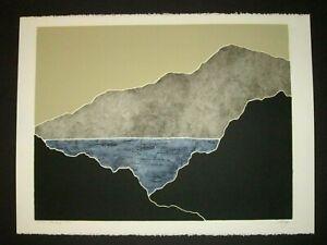 "Peter Keefer ""Landscape CXVI"" Signed & #'d Collagraph Southwestern Print 145/250"