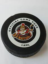 BINGHAMTON SENATORS  AHL OLD STYLE INGLASCO CANADA HOCKEY OFFICAL GAME PUCK
