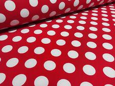 Stoff Softshell Punkte rot weiß wasserabweisend Outdoor Kinderstoff