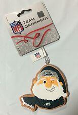 Philadelphia Eagles Gingerbread Winking SANTA Christmas Tree Holiday Ornament
