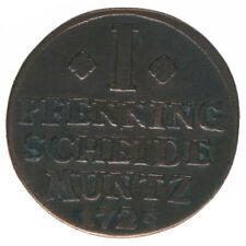 Braunschweig Wolfenbüttel 1 Pfennig 1725 A43199