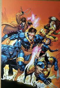 X-Men Blue Team Comic Poster Jim Lee Art Wolverine, Gambit, Cyclops, Psylocke
