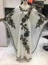 Oferta Diseñador Farasha Dubái Caftán Wight Vestido Ari Trabajo Por MS CREATION