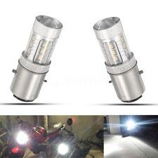 2 x H6 FARI 16 LED BA20D 16W Bianco Lampadina Lampada Luce Faro Anteriore Moto