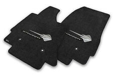 NEW! BLACK FRONT FLOOR MATS 2014-2018 CORVETTE STINGRAY Embroidered C7 Logo