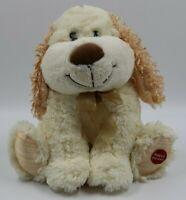 """Kids Ivory Beige Stuffed Plush Electronic Singing Toy Dog 10"""""""