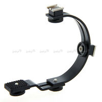 Support Poignée Bras Caméscope Appareil Photo pour Sabot Flash Mic Lampe Vidéo C