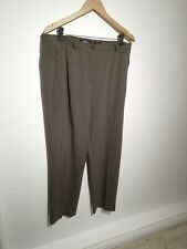 Robell Uk 18 Plus Size Brown Sahra Trousers Straight Leg Formal Zip Pockets