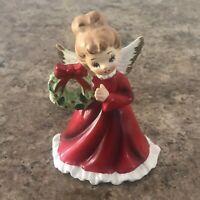 Vtg Napcoware Christmas Angel Holding Wreath #6964 Japan