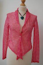 schöne damen pink fsr bluse/top gr. 10 lemmi £ 79 bnwt (c2)