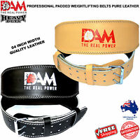 DAM 4 INCH WIDE WEIGHT LIFTING BELT WEIGHTLIFTING BODYBUILDING GYM BACK SUPPORT