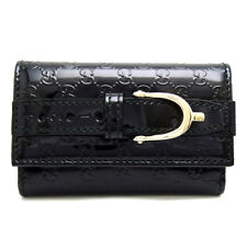 Auth Gucci Black Patent Leather 6 Key Holder Key Case 309759 (DH44190)