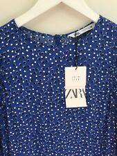 Zara Blue Spotted 🦋Dress. Size M. New