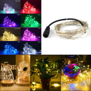 50 LED String Fairy Lights DC 12V Xmas Garden Home Party Decor Lamp Waterproof
