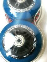 Fila 8x Rollen 90mm/83A +abec 7+alu spacer Fitnessrollen für Inliner Skates
