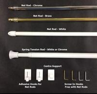 Caravan Motor home Voile Net Curtain Tension Rods or Net Rods - Extendable Pole