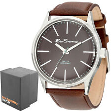 Ben Sherman Gents Brown Faux Leather Strap Round Dial Mens Quartz Watch R930