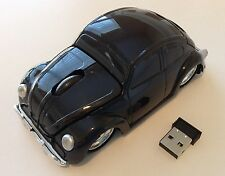 Black Wireless 3D USB  Volkswagen VW beetle car optical mouse   PC/Laptop Gift