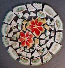 Poinsettias & Holly Leaves Mosaic Tiles ~ Royal Norfolk