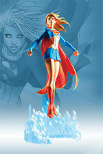 Supergirl over crystal 1/8 Unpainted Statue Figure Model Resin Kit