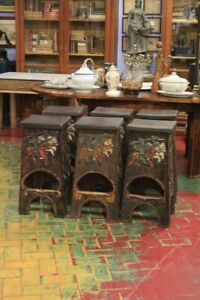 Group Of Six Stools Spanish, Period '900/Stools/Furniture Spanish