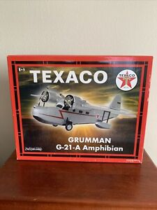 New ERTL DIE CAST METAL Wings of Texaco GRUMMAN G-21-A AMPHIBIAN Airplane