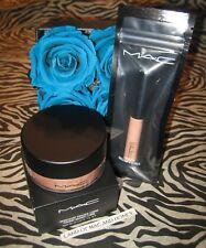 MAC Iridescent Loose Powder GOLDEN BRONZE 12g Authentic + Mini C-THRU Lipglass