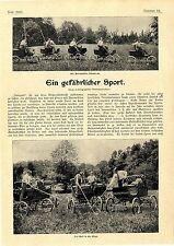 Autopolo Ein neuer und gefährlicher amerikanischer Sport Histor. Memorabilie1902