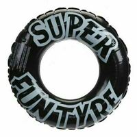 "Black 36"" Swimming Pool Inflatable Tyre Rubber Ring Float Adults & Kids Fun 002"