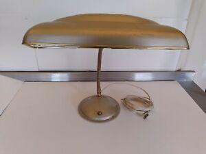 VINTAGE INDUSTRIAL ART DECO , GOOSENECK LAMP AIRPLANE WING DESK LAMP.