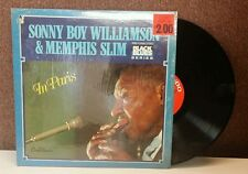 33 LP-12 inch-Blues-GNP Crescendo-10003-Sonny Boy Williamson/ Memphis Slim-Paris