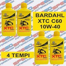 BARDAHL XTC C60 10W-40 OLIO MOTORE MOTO 4T - 4 LITRI FORMULA POLAR PLUS FULLRENE