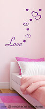 Love Hearts Romantic Removable Wall Art Vinyl Graphic Bedroom Sticker Decal