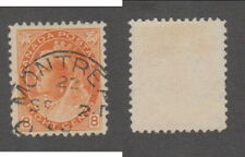 Used Canada 8 Cent Queen Victoria Numeral Stamp #82 (Lot #17963)