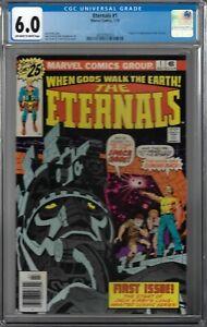 Eternals # 1 CGC 6.0 ow/wp Origin & 1st app. of the Eternals