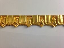 ANTIQUE EMPIRE STYLE 24 KT GOLD PLATE MOLDING BORDERING FURNITURE HARDWARE