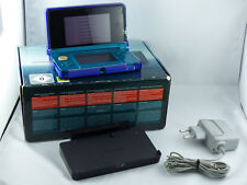 Nintendo 3DS Konsole Aqua Blau OVP (Scharnier gebr.) + Ladekabel - Akzeptabel