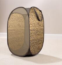 Country Club Wicker Print Pop Up Laundry Hamper Washing Basket Storage Home