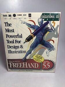 Macromedia Freehand 5.5 for Macintosh and Power Macintosh Vintage New Sealed