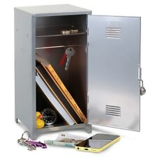 Lockable High School Metal Locker Cabinet Storage Safe Cash Box & Padlock 21040