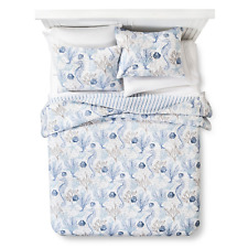 homthreads Pismo Beach Comforter Quilt & Pillow Sham Set Bedding Blue Twin New
