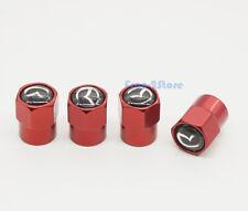 4x Car Logo Wheel Tire Valve Stems Caps Air Valve Covers Accessories For Mazda