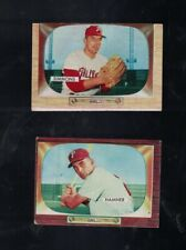 1955 BOWMAN BASEBALL LOT X 2 PHIL PHILLIES CARDS INC SIMMONS, HAMNER