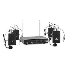 Auna 4 Channel Wireless Microphone Headset X 4 Transmitter Professional Audio
