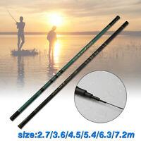 Ultralight 2.7/3.6/4.5/5.4/6.3/7.2m  Telescopic Spinning Fishing Rod Stream Pole