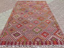 """Anatolia Antalya Nomads Wool Kilim Large Tribal Rug 72,8""""x115,3"""" Area Rug Carpet"""