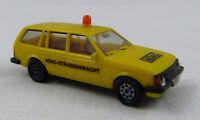 """Opel Kadett Caravan """"ADAC Strassenwacht"""" gelb Herpa 1:87 H0 ohne OVP [G16]"""