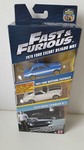 FAST FURIOUS ULTIMATE PERFORMANCE PACKSET Ford Mustang Dodge Charger Modellauto