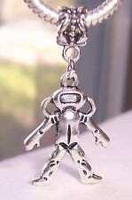 Scuba Diver Diving Nautical Beach Dangle Bead for Silver European Charm Bracelet