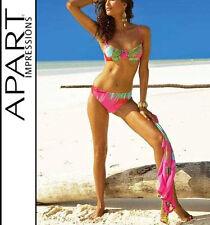 NEU FARBENPRÄCHTIG! BÜGEL BIKINI exotische TROPIC PRINTS 36 D APART pink *217090